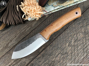 Fiddleback Forge Camp Muk - Brown Burlatex - Fiddleback Forge Handmade Knife