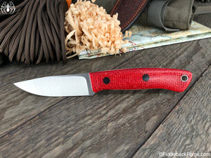 J.B. Knifeworks Cub - Candy Apple Burlap