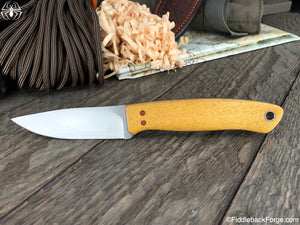 J.B. Knifeworks Cub - Yellow Heart