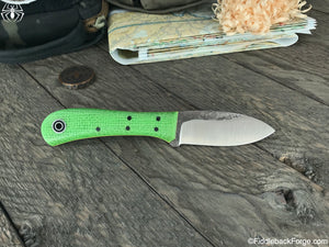 Fiddleback Forge EDC II - Lime Burlatex - Fiddleback Forge Handmade Knife