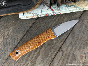 Fiddleback Forge ED Karda - Paper Bag Burlatex - Fiddleback Forge Handmade Knife