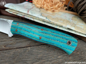 J.B. Knifeworks Eclipse - 8670 - Turquoise Stabilized Ash