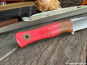 Fiddleback Forge Esquire - Raspberry Micarta - Fiddleback Forge Handmade Knife