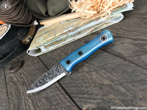 Fiddleback Forge Esquire - Glacial Jade G-10 - SCANDI