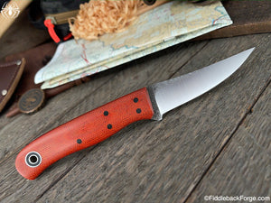 Fiddleback Forge F2 - Burnt Orange Micarta