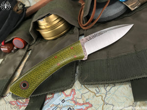 Fiddleback Forge Bushboot - Evergreen Burlap - Fiddleback Forge Handmade Knife