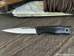 Fiddleback Forge Femme Fatale - Black/Blue Micarta - Fiddleback Forge Handmade Knife