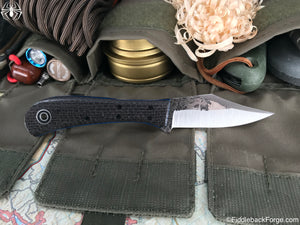 Fiddleback Forge Lonestar EDC - Charcoal Burlatex - Fiddleback Forge Handmade Knife