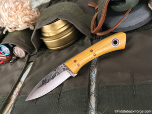 Fiddleback Forge Babyboot - Osage - Fiddleback Forge Handmade Knife