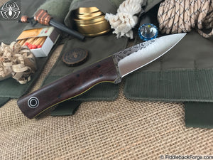 Fiddleback Forge Bear Cub - Rosewood - Fiddleback Forge Handmade Knife