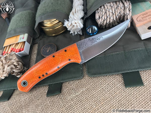 Fiddleback Forge Bourbon Street Skinner - Sunset Burlatex - Fiddleback Forge Handmade Knife