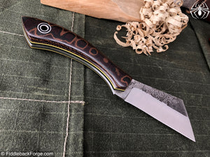 Fiddleback Forge Bow Legged Belt - Model Info - Fiddleback Forge Handmade Knife