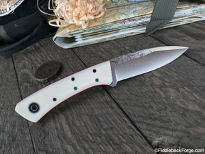 Fiddleback Forge Bushboot - Ivory Paper Micarta - Fiddleback Forge Handmade Knife