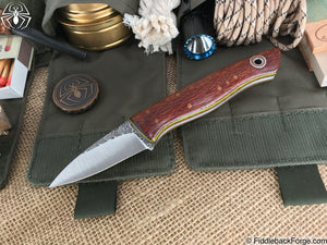 Fiddleback Forge Bushcraft Karda - Lacewood - Fiddleback Forge Handmade Knife