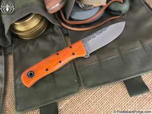 Fiddleback Forge Bushcrafter Jr. - Sunset Burlatex - Fiddleback Forge Handmade Knife