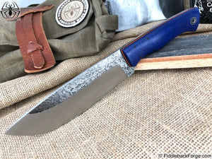 Fiddleback Forge Camp - Navy Burlap - Fiddleback Forge Handmade Knife