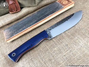Fiddleback Forge Camp - Navy Burlap