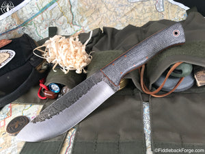 Fiddleback Forge Camp - Oreo Burlap - Fiddleback Forge Handmade Knife