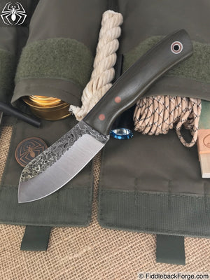 Fiddleback Forge Camp Muk - OD Canvas Micarta