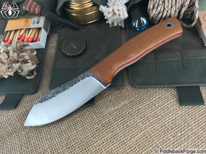 Fiddleback Forge Camp Muk - Westinghouse Canvas Micarta - Fiddleback Forge Handmade Knife
