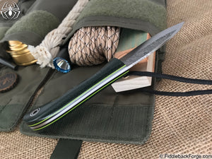 Fiddleback Forge EDC II - Forest Green Burlap