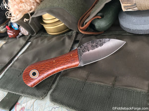 Fiddleback Forge Gnome - Lacewood - Fiddleback Forge Handmade Knife