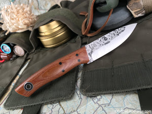 Fiddleback Forge Lil' Lady - Natural Canvas - Commando - Fiddleback Forge Handmade Knife