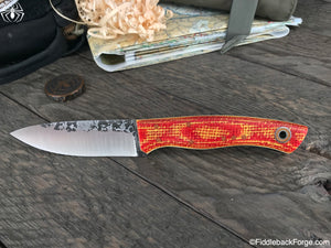 Fiddleback Forge Old School Ladyfinger - Red/Yellow Burlatex