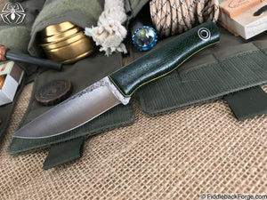 Fiddleback Forge Patch - Forest Green Burlap - Fiddleback Forge Handmade Knife