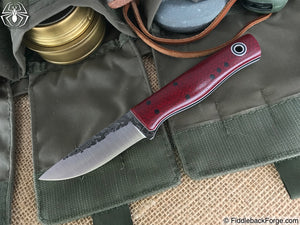Fiddleback Forge Patch - Ruby Burlap - Fiddleback Forge Handmade Knife
