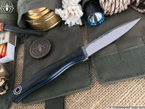 Fiddleback Forge Scorpion - Black Canvas Micarta