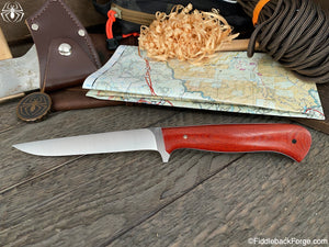 J.B. Knifeworks Filet Knife - AEB-L - Burnt Orange Micarta