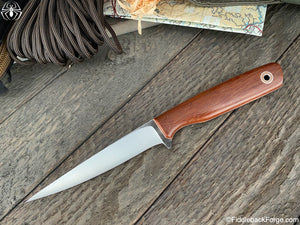 Fiddleback Forge Filet - Cross Cut Natural Canvas - Fiddleback Forge Handmade Knife