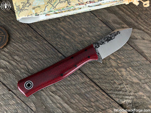 Fiddleback Forge Gambler - Ruby Burlatex - Fiddleback Forge Handmade Knife