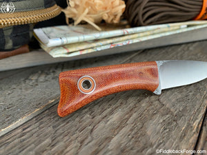 Fiddleback Forge Geisha - Natural Canvas - Fiddleback Forge Handmade Knife