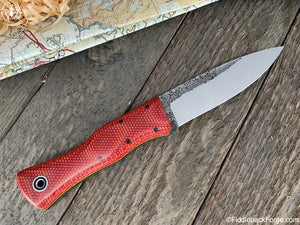 Fiddleback Forge Gunstock Bushcrafter - Fire Dog Micarta