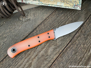 Fiddleback Forge Hiking Buddy - Sunburst Jade G-10 - Fiddleback Forge Handmade Knife
