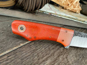 Fiddleback Forge Snowbill - Burnt Orange Canvas - Fiddleback Forge Handmade Knife
