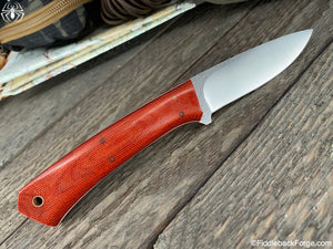 J.B. Knifeworks Big Shady - 440c Steel - Burnt Orange Canvas Micarta - J.B. Knifeworks Handmade Knife