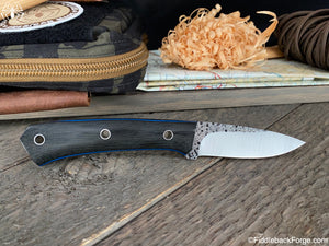 J.B. Knifeworks Shady Baby - 8670 - Cross Cut Black Canvas