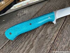 J.B. Knifeworks Filet Knife - 440c Steel - Turquoise Burlatex - J.B. Knifeworks Handmade Knife