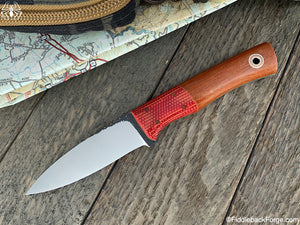 Fiddleback Forge Kephart - CPM 154 - Cross Cut Natural Canvas - Fiddleback Forge Handmade Knife