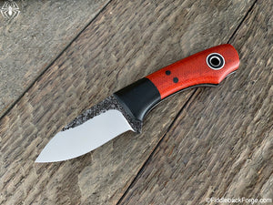 Fiddleback Forge Lil' Snowbill - Burnt Orange Micarta