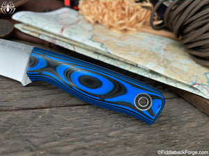 Fiddleback Forge Loner - Black/Blue G-10