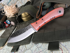 Fiddleback Forge Nessmuk - Sunburst Jade G-10 - Fiddleback Forge Handmade Knife