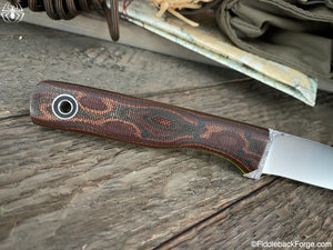 Fiddleback Forge Nora - Python Micarta - Fiddleback Forge Handmade Knife