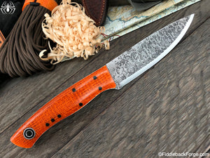 Fiddleback Forge Old School Ladyfinger - Orange Burlatex - SCANDI