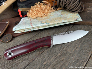 Fiddleback Forge Pack Rat - 8670 - Maroon Micarta