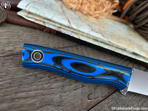 Fiddleback Forge Patch - 8670 - Black/Blue G-10