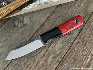Fiddleback Forge Shogun - Fire Dog Micarta - Fiddleback Forge Handmade Knife